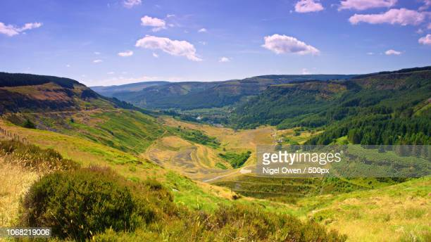 view of mountains - nigel owen stock pictures, royalty-free photos & images