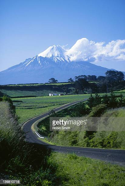 View of Mt Egmont, North Island, New Zealand