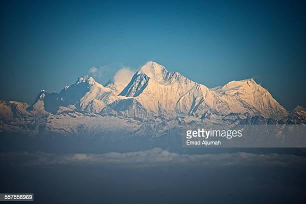 View of mt. everest from Phalut, West Bengal