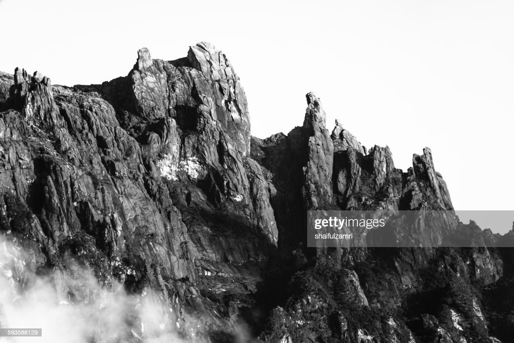 View of Mt. Kinabalu from Kundasang, Malaysia : Stock Photo