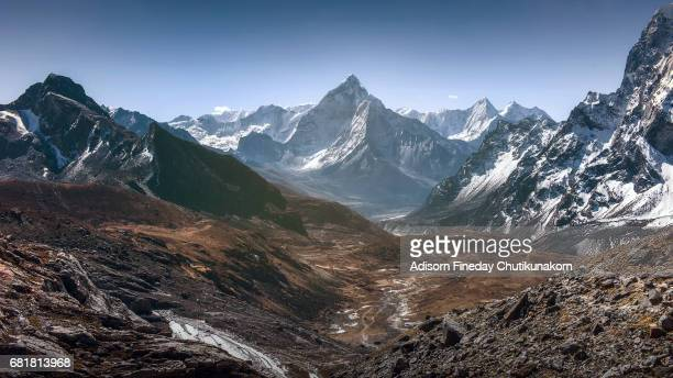 View of Mt.Ama Dablam in Himalaya range, Nepal
