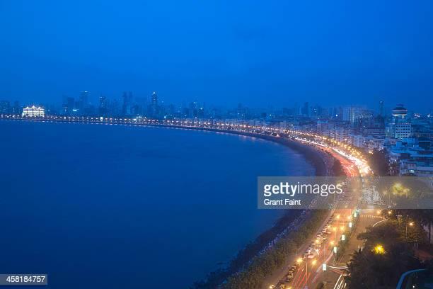 view of mumbai shoreline - mumbai stock pictures, royalty-free photos & images
