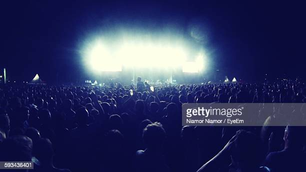view of music festival - popular music concert stock pictures, royalty-free photos & images