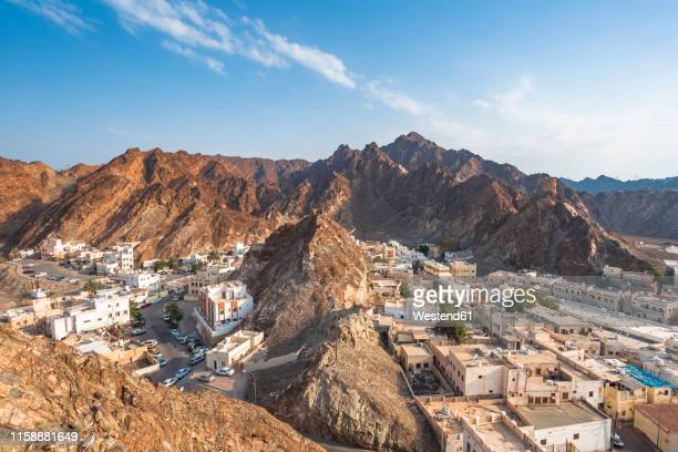 view of mutrah, muscat, oman - muscat governorate stock pictures, royalty-free photos & images