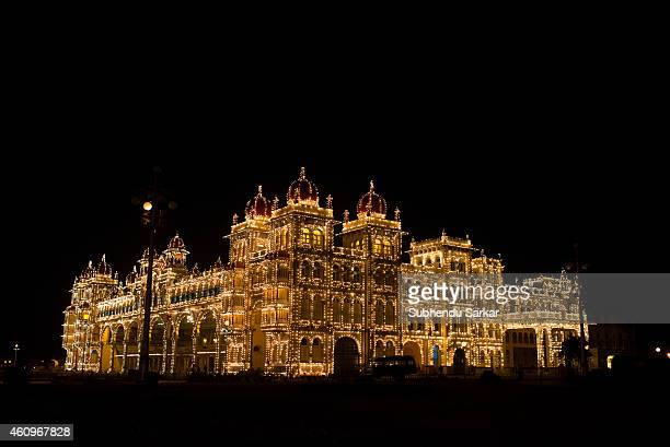 A view of Mysore Palace lit at night The Palace of Mysore is the official residence and seat of the Wodeyars the Maharajas of Mysore the former royal...