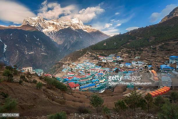 View of Namche Bazaar, Nepal