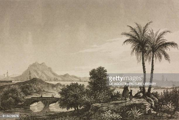 View of Nanking China engraving by Lemaitre from Chine ou Description historique geographique et litteraire de ce vaste empire d'apres des documents...