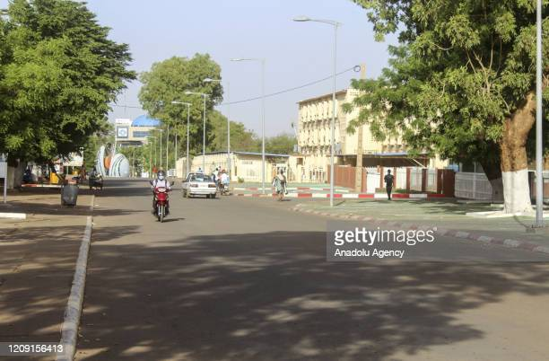 View of nearly empty streets due to measures taken against the coronavirus in Niamey, Nigeria on April 5, 2020.
