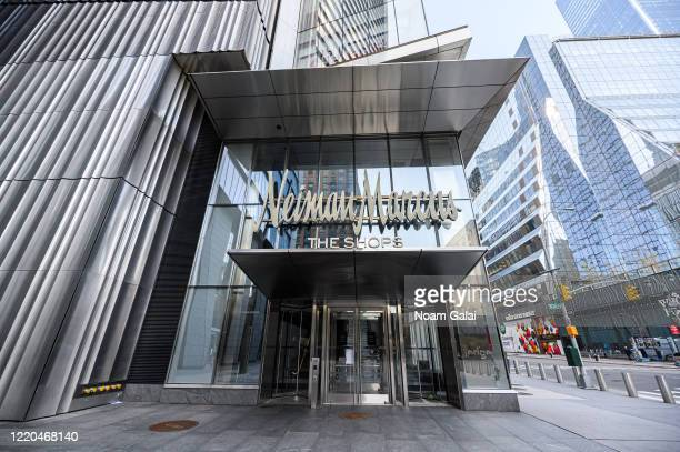 A view of Neiman Marcus at The Shops at the Hudson Yards during the coronavirus pandemic on April 20 2020 in New York City COVID19 has spread to most...
