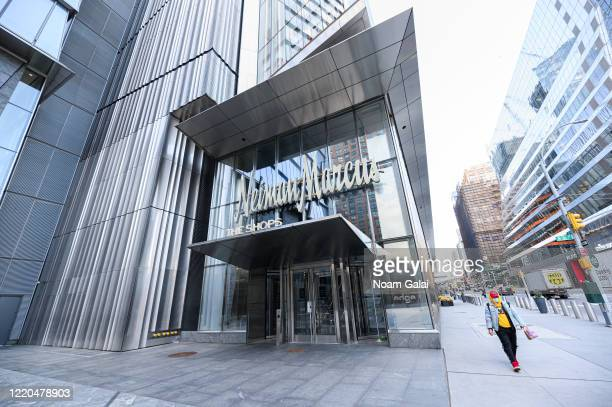 A view of Neiman Marcus at The Shops at the Hudson Yards during the coronavirus pandemic on April 22 2020 in New York City COVID19 has spread to most...