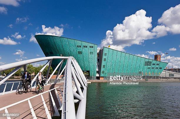 view of nemo (architect renzo piano) - nemo museum stock pictures, royalty-free photos & images