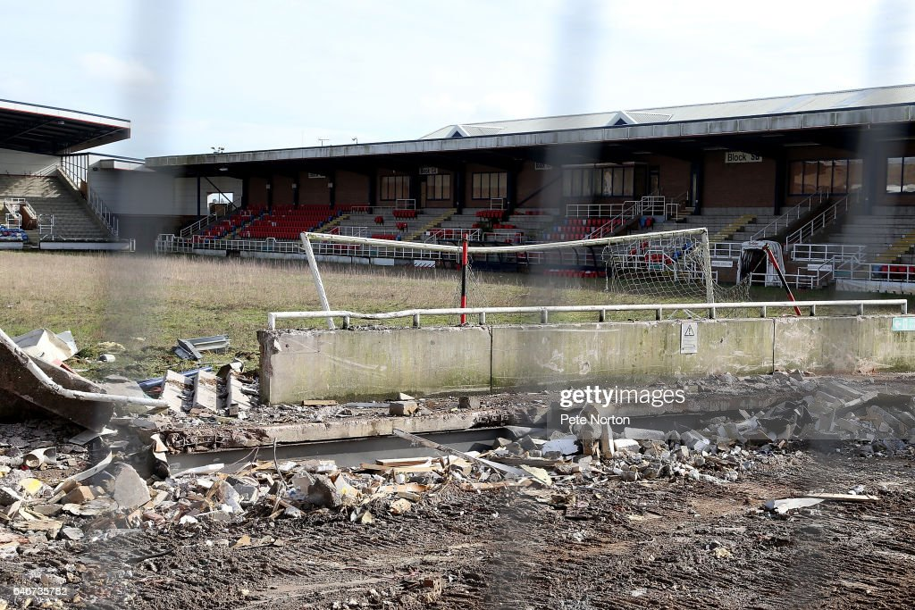 Rushden and Diamonds Former Ground Nene Park is Pulled Down : News Photo
