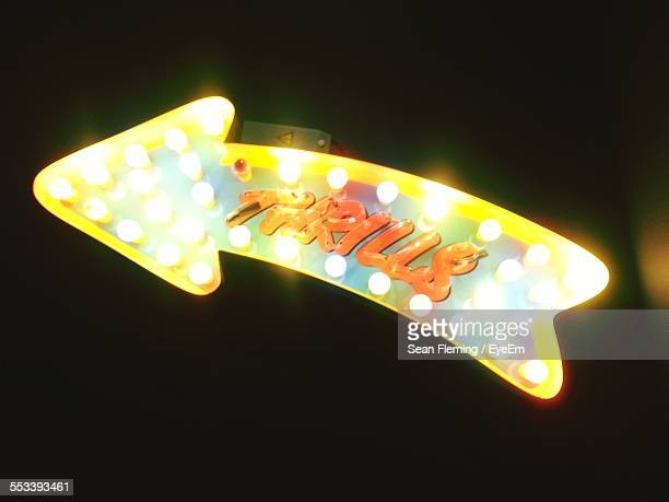 View Of Neon Sign At Night