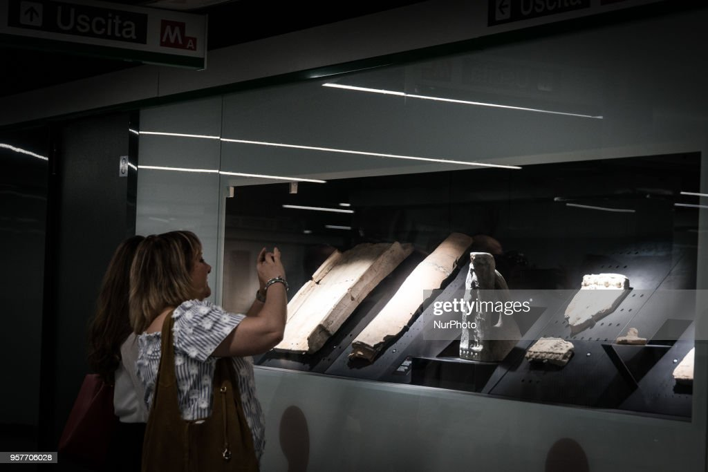 A view of new subway station 'San Giovanni' part of the Line C of subway on May 12, 2018 during it's opening to the public in Rome