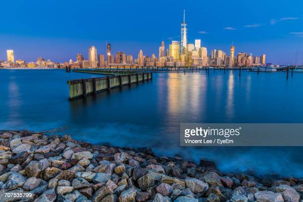 View Of New York City At Waterfront