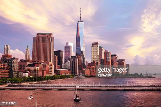 View of New York City with Freedom tower