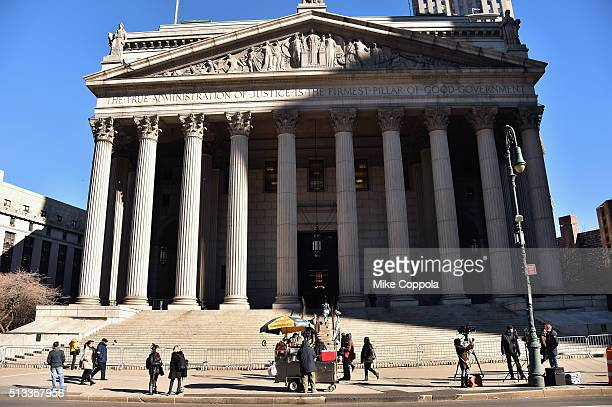 A view of New York State Supreme Court during the time Madonna was due to appear to fight her custody battle against former husband Guy Ritchie Both...
