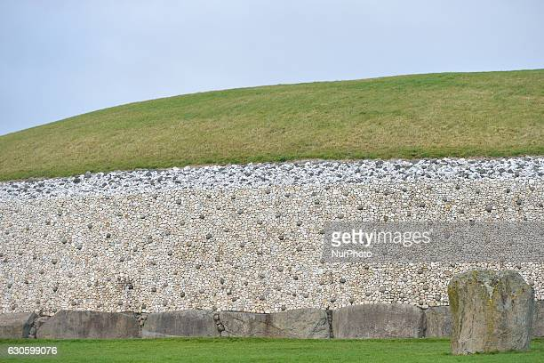 A view of Newgrange a prehistoric monument in County Meath On Monday 26 December 2016 in Newgrange County Meath Ireland