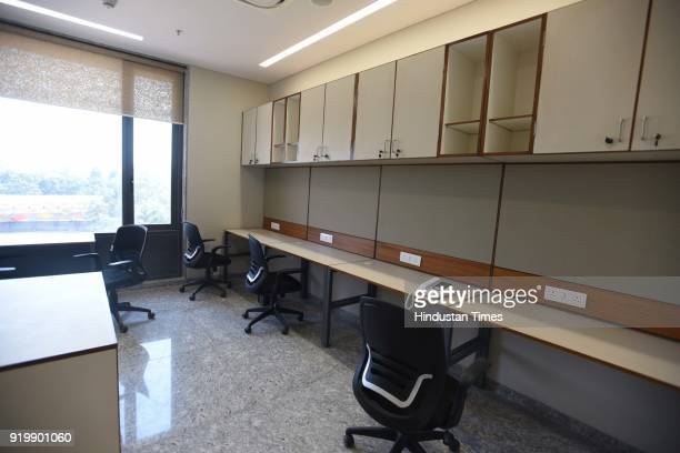 A view of newly inaugurated office of BJP Headquarter at 6A Deen Dayal Upadhyay Marg on February 18 2018 in New Delhi India PM Modi inaugurated the...