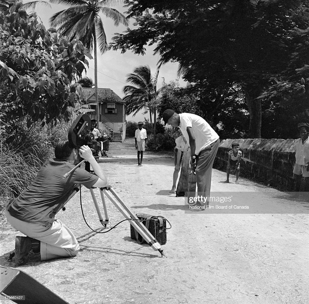 Filming Street Cricket In Port of Spain, Trinidad : News Photo