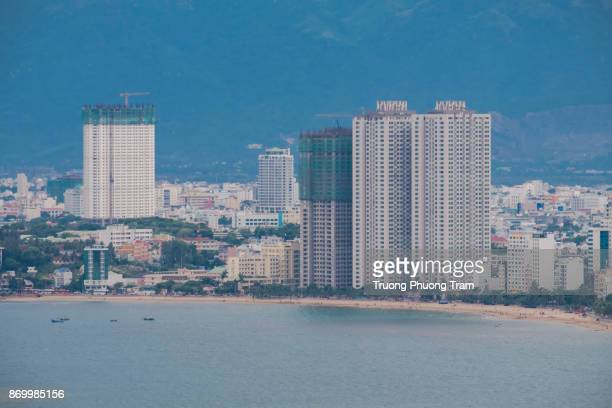 View of Nha Trang city was shooting from the Co Tien mountain, Viet Nam.