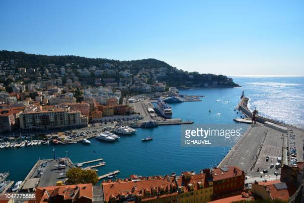 View of Nice Port France
