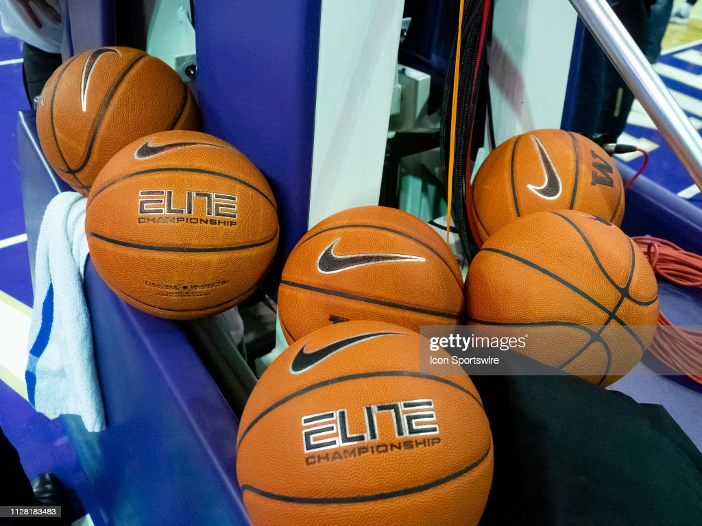 22b2417055b A view of Nike Elite Championship basketballs before a college ...