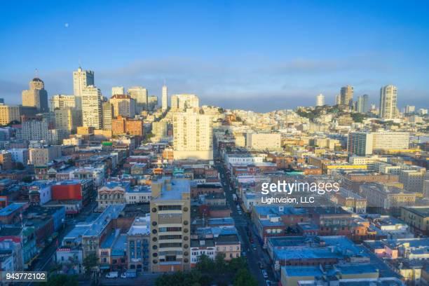 View of Nob Hill in San Francisco, California