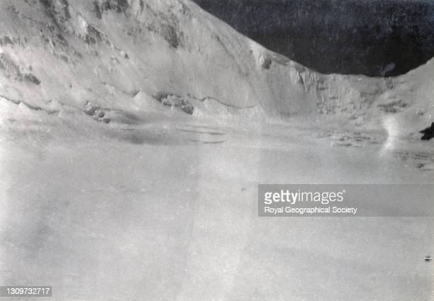 View of North Col from East Rongbuk Glacier. By George Leigh Mallory. Mount Everest Expedition 1921.