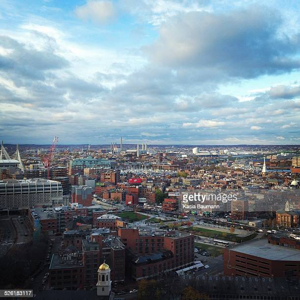 View of North End in Boston, Massachusetts