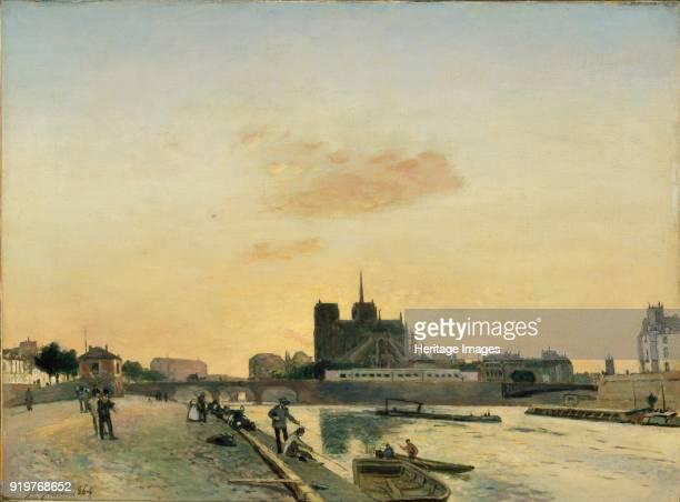 View of NotreDame Paris 1864 Artist Johan Barthold Jongkind