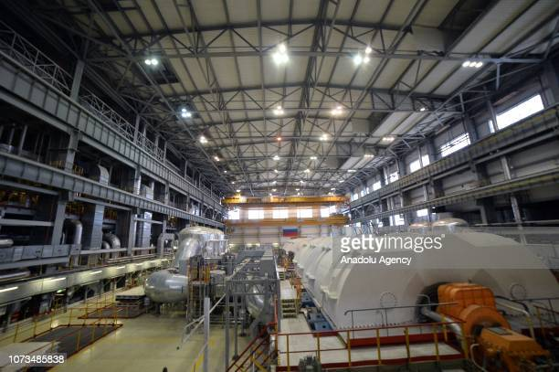A view of Novovoronezh Nuclear Power Plant II which is currently under construction in Novovoronezh Voronezh Oblast Russia on November 27 2018...