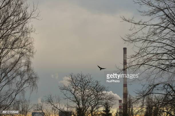 A view of Nowa Huta's Heat and Power Plant On Sunday 10 December 2017 in Krakow Poland