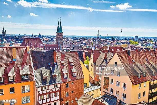 view of nuremberg, germany - nuremberg stock pictures, royalty-free photos & images