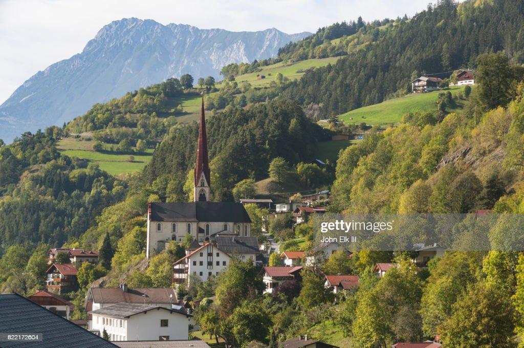 View of Oetz, Austria : Stock Photo