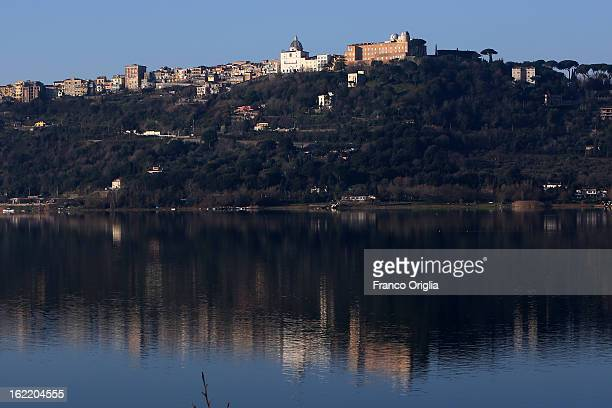 A view of of the Apostolic Palace and the Pontifical Villas of Castelgandolfo on the Albano lac that will be the Pope Benedict XVI's residence during...
