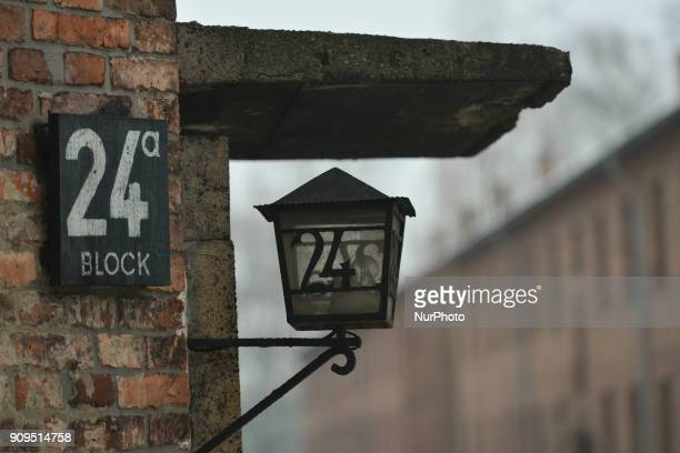 A view of of the block 24 signs inside Auschwitz 1 camp on the early morning just a few days ahead of the 73rd anniversary of the liberation of the...