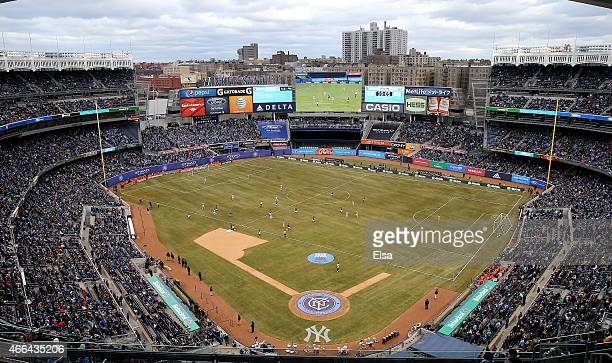 A view of of Yankee Stadium as the New York City FC take on the New England Revolution in the first half during the inaugural game of the New York...