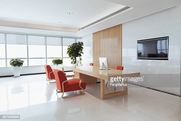 view of office reception area - hotel lobby stock pictures, royalty-free photos & images