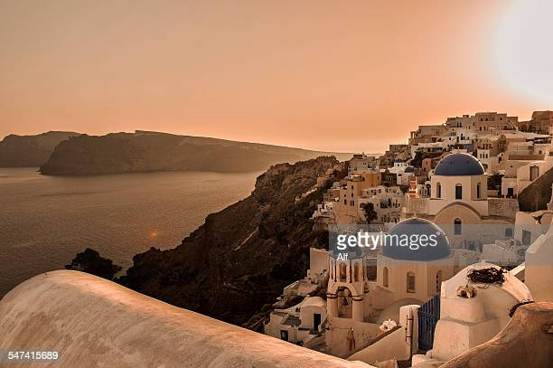 View of Oia in Santorini