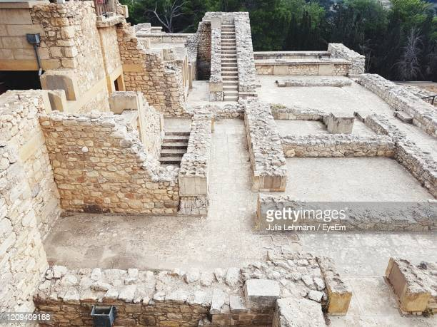 view of old building - archaeology stock pictures, royalty-free photos & images