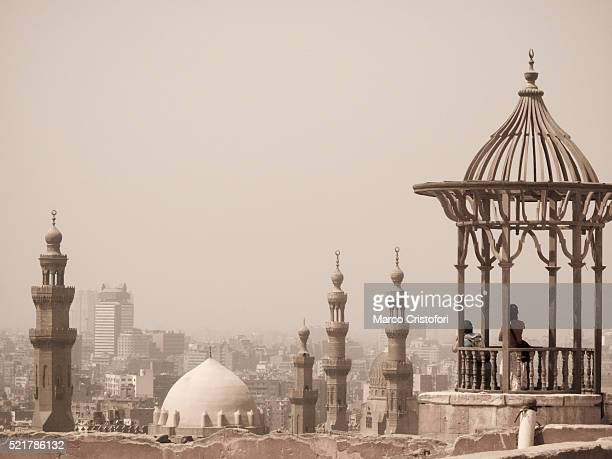 View of old Cairo from terrace of Mohammed Ali Alabaster Mosque. Cairo. Egypt