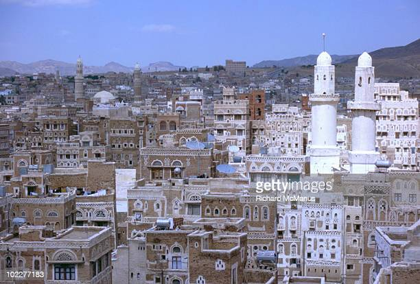 View of old city of  Sana'a from roof top