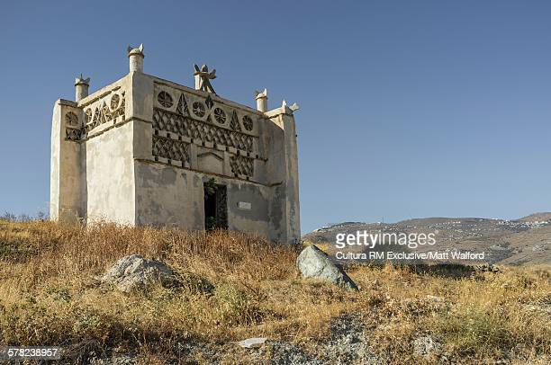 View of old dovecote, Tinos Island, Greece