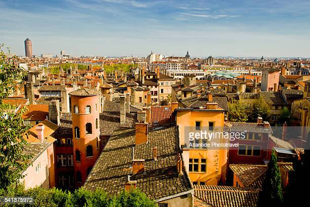 view of old lyon - lyon stock pictures, royalty-free photos & images