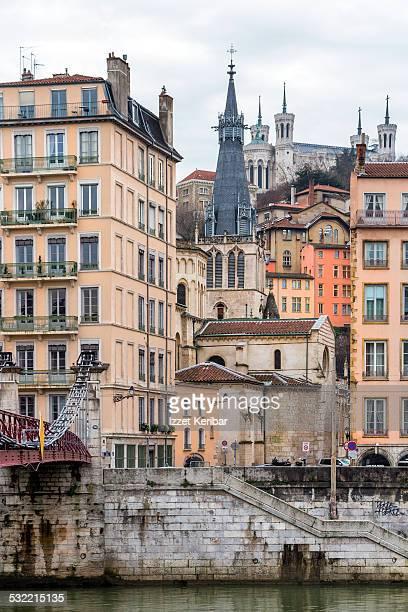 View of old Lyon St jean neighbourhood