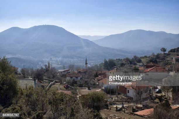 view of old orhanli village. - emreturanphoto stock-fotos und bilder