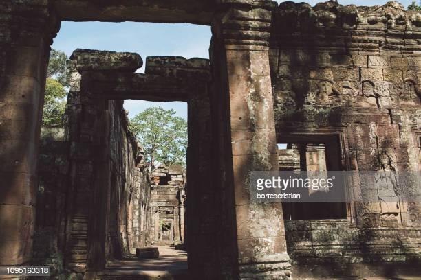 view of old ruins against sky - bortes - fotografias e filmes do acervo