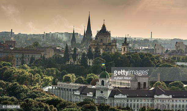 View of Old town of Lviv,Ukraine