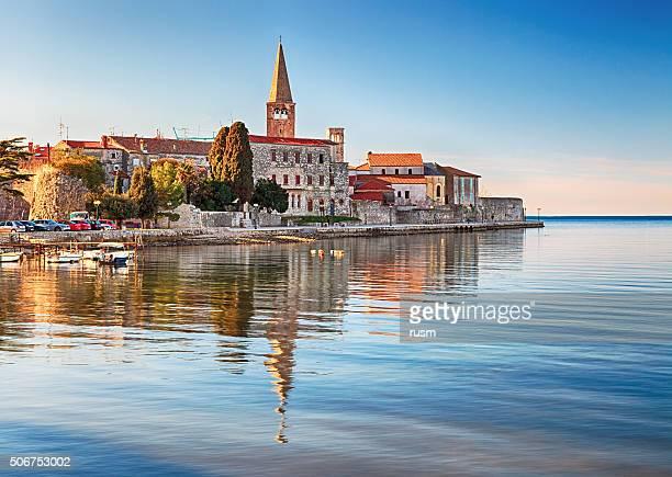 旧市街の Porec ,クロアチア